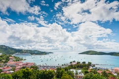 Harbor at St. Thomas Stock Images