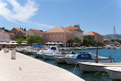 The harbor of stari grad Royalty Free Stock Photos