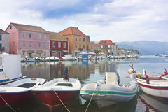 Harbor in Stari Grad Royalty Free Stock Photo