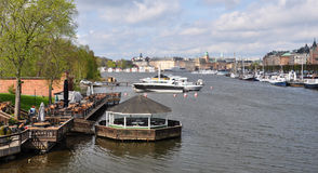 Harbor in Stockholm, Scandinavia, Europe Stock Photography