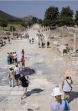 Harbor Street viewed from the Theatre, Ephesus Royalty Free Stock Photos