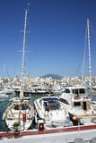 Harbor in summer Puerto Banus in Spain Stock Images
