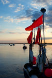 Harbor sunset Stock Photos