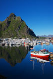 Harbor in Svolvear on Lofoten Royalty Free Stock Photography