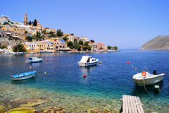 Harbor at Symi, Greece Stock Images