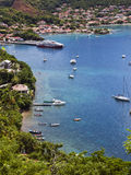 Harbor of Terre-de-Haut, Les Saintes islands. Harbor and village of Terre-de-Haut, The Saints islands, Guadeloupe archipelago Royalty Free Stock Photos