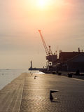The harbor of Thessaloniki, Greece Royalty Free Stock Images