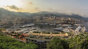 Monaco Cityscape Time Lapse stock video