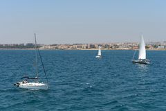 In the harbor in Torrevieja Stock Photo