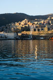 The harbor in the town of Genova, Italy Royalty Free Stock Image