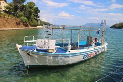 In the harbor of  the town Old Epidaurus, Peloponnese, Greece. royalty free stock photography