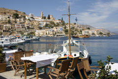 Harbor town of Symi Island - Greece Royalty Free Stock Photo