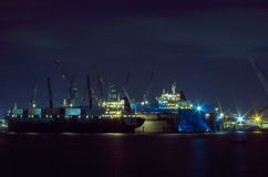 Harbor transport industry Royalty Free Stock Image