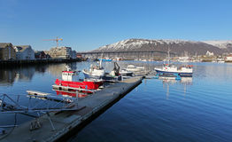 Harbor in Tromso, Norway. Stock Images