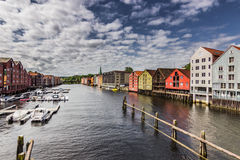 Harbor of Trondheim, Norway Royalty Free Stock Photography