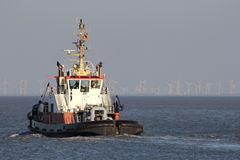 Harbor tugboat Royalty Free Stock Images