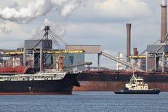 Harbor tugboat Stock Image