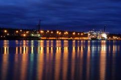 Harbor at  twilight time Royalty Free Stock Photo