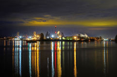 Harbor at  twilight time Royalty Free Stock Images