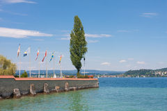 Harbor of Unteruhldingen at Lake Constance Stock Photo