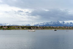 In the Harbor of Ushuaia - the southernmost city of the Earth. Royalty Free Stock Images
