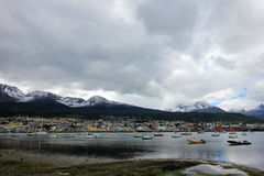 Harbor of Ushuaia, Tierra del Fuego, Argentina. Royalty Free Stock Image