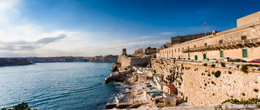 Harbor of Valetta with Bell Tower Royalty Free Stock Photography