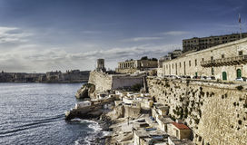 Harbor of Valetta with Bell Tower Memorial, Malta Royalty Free Stock Images