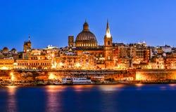 Harbor in Valletta Stock Photography