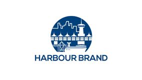 Harbor vector logo design template Stock Photo