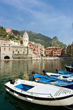 Harbor in vernazza Stock Image