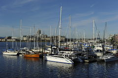 Harbor of Victoria, British Columbia, Canada Royalty Free Stock Images