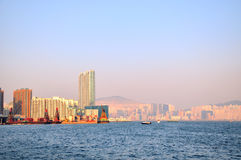 Harbor of Victoria, Hongkong Royalty Free Stock Image