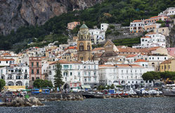 Harbor View of Amalfi, Italy stock images