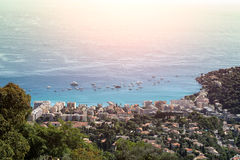 Harbor view from mountains Royalty Free Stock Photo