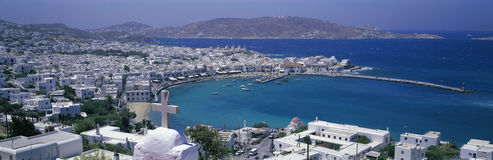 Harbor view, Mykonos, Greece Stock Photos