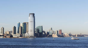 Harbor View New York City Skyline. Highrise skyscrapers Down Town Manhattan  New York USA Stock Image