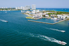 Harbor view Port Everglades, Ft. Lauderdale Royalty Free Stock Photos