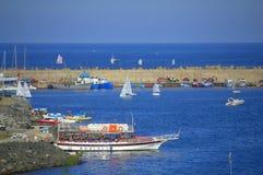 Harbor view Tsarevo Bulgaria Royalty Free Stock Photo