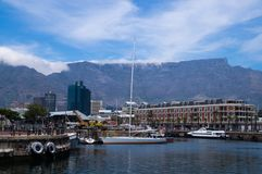 Harbor view in Victoria and Alfred Waterfront, Cape Town royalty free stock photo