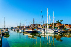 Harbor view of the village of Urk in the Netherlands Stock Image