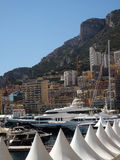 Harbor view  yachts and condos Monte Carlo Monaco Europe Stock Image