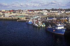 Harbor view in Yarmouth, Nova Scotia, Canada stock images