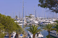 Harbor of Villeneuve-Loubet in France Royalty Free Stock Image