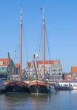Volendam, Ijsselmeer, Netherlands. In the Harbor of Volendam at Ijsselmeer,Netherlands Royalty Free Stock Images