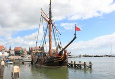 The Harbor of Volendam. The Netherlands. Stock Images