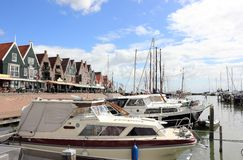 The Harbor of Volendam. The Netherlands. Royalty Free Stock Images