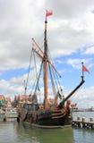 The Harbor of Volendam. The Netherlands. Stock Photos