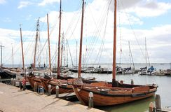 The Harbor of Volendam. The Netherlands. Royalty Free Stock Image