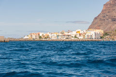 The harbor of Vueltas on La Gomera, Canary Islands Royalty Free Stock Images